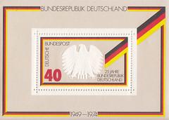 Deutsche Briefmarken (micky the pixel) Tags: briefmarke stamp ephemera deutschland bundespost block 25jahrebundesrepublikdeutschland bundesadler