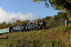 41312 & 80078 MHR 21/10/18 (Woolwinder) Tags: lmsrivatt262t 41312 riddlesbrstandard4mt264t 80078 midhantsrly lswr hampshire england uk southernrailway