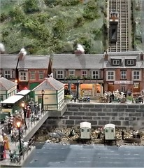 The Funicular Railway & Pier at Ravenscar. (ManOfYorkshire) Tags: lift funicular railway inclined tramway ravenscar pier scale model layout train fictional whatmighthavebeen oogauge 176 locomotion shildon 2018 show display exhibition