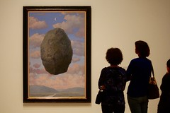 Contemplating Magritte (stephencharlesjames) Tags: art magritte painting surrealism silhouettes san francisco museum modern