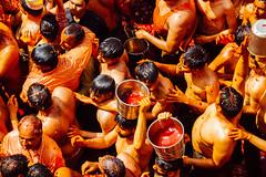 Holi Paint & Crowd, Shri Dauji Temple, Chhabria India (AdamCohn) Tags: 016kmtobaldevinuttarpradeshindia abeer adamcohn baldev chhabria india shridaujitemple uttarpradesh colors geo:lat=27408250 geo:lon=77821988 geotagged gulal holi play wwwadamcohncom अबीर गुलाल baldeo