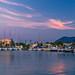 Sunset in Lefkas Marina