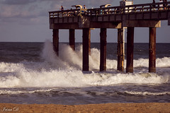 St. Augustine Pier (Irina1010) Tags: pier ocean atlantic water waves splash people fishermen fishing sunset light golden glow autumn october 2018 saintaugustine canon outstandingromanianphotographers