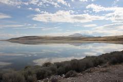 Autumn reflections, Great Salt Lake (vtpoly) Tags: antelopeislandstatepark utah greatsaltlake lakes sky clouds reflections unitedstates polywoda usa