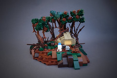 Yodas Hut (-Balbo-) Tags: lego star wars yoda hut dagobah bauwerk hütte episode 5 6 the impire strikes back balbo roguebricks yodas creation