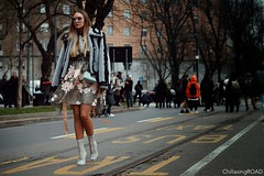 MFW Febbraio2017 (303) (ChillaxingROAD) Tags: chillaxingroad andreamenin beautiful beautifulwomen beautifulgirls cool clothing cameramoda design elegance fashion fotografimilano fashionweek glam girls jewelry look luxury mfw models portrait streetstyle style streetwear womenswear women