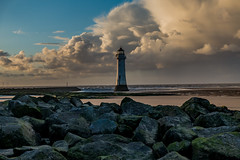 Storm Bronagh visits New Brighton, Wirral (paullee66416) Tags: buoy beach sand breakers clouds sky waves river mersey rocks lighthouse