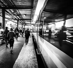 On the side (Henka69) Tags: fuga reflections streetphotography monochrome göteborg gothenburg