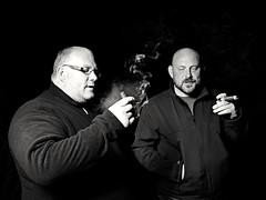 Dave, Sam and the Cubans (John Hill Millar) Tags: smoke smoking cuban cigar lowkey low key monochrome mono bnw blackandwhite blackwhite blacknwhite