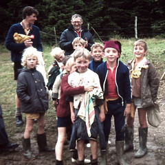 Mud at camp (theirhistory) Tags: boy children kid jumper jacket trousers wellies shorts shoes rubberboots leaders keepers