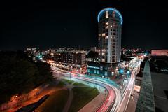 Eclipse, Bristol, UK (KSAG Photography) Tags: bristol night city urban tower building architecture lights street longexposure road europe unitedkingdom england britain uk wideangle nikon september autumn 2018