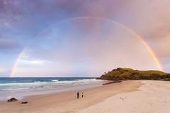 Rainbow Watchers (Martin Canning) Tags: 1740 5dmarkii australia cabaritabeach canon canon5dmarkii leefilters martincanning martincanningcom nsw newsouthwales beach beachscape landscape light rainbow seascape sunset