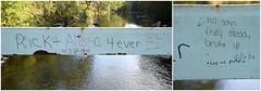 4 ever (MTSOfan) Tags: rick alissa bridge graffiti bet tendollars humor couple love