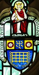 Saint Edward the Confessor (Lawrence OP) Tags: edward saints heraldry edwardtheconfessor king saint stainedglass london stsepulchre