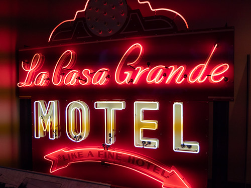 "Route 66 Neon Sign ""La Casa Grande Motel"""