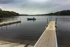 He Had The Whole Lake To Himself And Caught No Fish (prsavagec) Tags: fall lake boating fishing