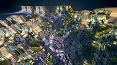 Partially shaded structure (msdte) Tags: fractals fractal 3d 3dart cgart abstract fragmentarium