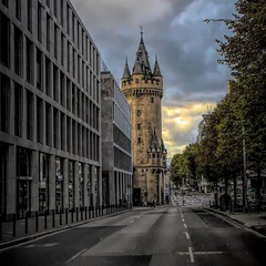 The tower (Gaby Swanson, Photographer) Tags: frankfurt city cityscape street downtown
