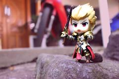 Fate Unlimited Blade Works; Gilgamesh and Archer (schellialion) Tags: fateunlimitedbladeworks nendoroid nendoroidphotography gilgamesh archer emiyaarcher nendoworld toysphotography