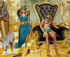 The Pharaoh and His Queen (Pixel Beast) Tags: signiture gianni slink hourglass lara freya isis jake geralt halloween arcade secondlife second style sl stylist sexy lifestyle life linden labs david heather queen egypt gacha king physique pharaoh woman man girl pretty handsome cute leopard costume fashion outfit blog blogger thepixelbeast thesims thepixelbeastcom pixelbeast pixel beast belleza gold imvu virtual virtualfashion