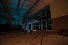 Foyer Blues (Nocturnal Kansas) Tags: night nocturnal fullmoon flashlight led1 protomachines d800 nikon lightpainting nightphotography asylum mental