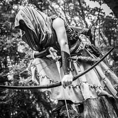 "(Lee ""Pulitzer"" Pullen) Tags: bristol nikond810 leighwoods larp liveactionroleplay empire navarr archer archery bowandarrow reenactment woods forest cosplay blackandwhite nikkorafs2470mmf28ged"