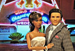 Las Vegas Wedding (Deejay Bafaroy) Tags: fashion royalty fr doll dolls puppe puppen integrity toys highbrow adele makeda black schwarz portrait porträt ken mattel homme male wedding lasvegas couple paar bridalcouple bridalpair happycouple hochzeitspaar