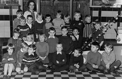 Class photo (theirhistory) Tags: children kids boys girls school class pupils form group teacher jacket jumper trousers wellies shoes boots