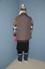 Slave Waitress (Warm Clothes Fetish) Tags: slave maid hot warm sweat torture boots coat fleece fur anorak apron rainwear winter waitress