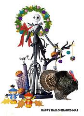 Hallo-Thanks-Mas (M.P.N.texan) Tags: hallothankmas card digital collage holiday greetings