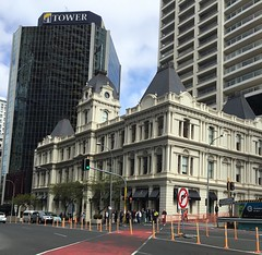 """Auckland. The beautiful old Customs House. Once on the harbour forshore. Now luxury shops. In Customs Street. (denisbin) Tags: auckland baths kiwi """"salt water baths"""" pool cathedral """"catholic cathedral"""" organ """"pipe organ"""" """"customs house"""" street"""" lane shops """"auckland lane"""""""