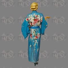 1920s 1930s Silk Embroidered Kimono Robe (Rickenbackerglory.) Tags: vintage 1920s 1930s flapper silk embroidered kimono robe siegel mannequin