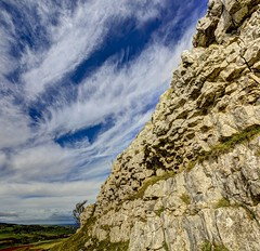 Only a  dream (pauldunn52) Tags: limestone cliff knife scar lake district cumbria loather estate common sky