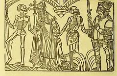 This image is taken from Page 6 of La grande danse macabre des hommes et des femmes : précédée du dict des trois mors et dfs [!] trois vifz, du Débat du corps et de l'ame, et de La complaincte de l'ame dampn (Medical Heritage Library, Inc.) Tags: dance death wellcomelibrary ukmhl medicalheritagelibrary europeanlibraries date1862 idb24877402