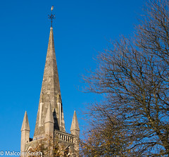 The Church Spire (M C Smith) Tags: pentax k3 buckhursthill essex church spire trees branches blue stone triangles shine