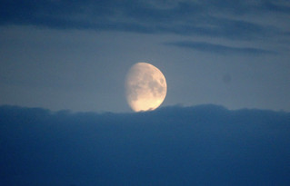 Tonight's rising moon over the Baltic