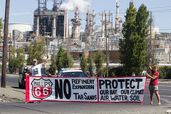 Phillips66_NoRefineryExpansion_IMG_9750-1 (rawEarth) Tags: phillips66 oilrefinery tarsands albertatarsands climatechange pollution nativenations firstnations indigenous idlenomoresfbay protest waterislife keepitintheground norefineryexpansion protect prayerwalk teachin indigenousleaders fossilfuels heavycrude tarsand transmountainpipeline oiltankers sanfranciscobay bayarea rodeo banners flags