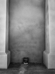 20180929_5406_7D2-24 The bucket in the alcove (272/365) (johnstewartnz) Tags: 272365 day272 onephotoaday oneaday onephotoaday2018 watertower towerjunction blackandwhite bw monochrome niksilvereffectspro canon canonapsc apsc eos 7d2 7dmarkii 7d canon7dmarkii canoneos7dmkii canoneos7dmarkii 2470 2470mm ef2470mmf4l canonef2470f40l addington