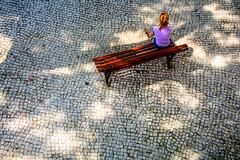 (Liane FKL) Tags: lisboa lisbonne portugal colors couleurs urbain urban city ville woman femme bench banc light lumière