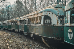 Abandoned Trains (The Dying Light) Tags: trolleygraveyard abandonedtrolley abandonedtrains abandonedpa urbex urbanexploration urbanexplorationphotography abandonedtrolleygraveyardpa