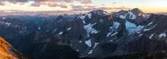 Formidable Sunset Bonanza (Laura Jacobsen) Tags: hiking mountains northcascades northcascadesnationalpark panorama sahalearm washington