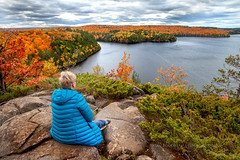 The View From The Top (Chaos2k) Tags: stormylake lookout restouleprovincialpark 2018 brianboudreau restoule ontario canada canon5dmarkii canon24105l lake water clouds 52weeks 52weeksin2018 portrait nature autumn trees rocks