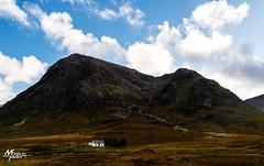 Little white house below Stob Dearg (M.FINDLAY PHOTOS) Tags: autumn buachailleetivemor clouds glencoe hills munro scotland stobdearg landscape landscapesofscotland scottishlandscapephotography sky