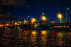 Tuchkov bridge (rsvatox) Tags: night bridge river dark water sky cityscape nightphotography citylights sailntpetersburg saintpetersburg leningradoblast russia ru