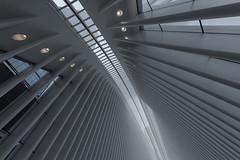 Oculus, NY (andre adams) Tags: architecture usa newyork newyorkcity calatrava travel urban futuristic perspective geometry lines symmetry design abstract shapes