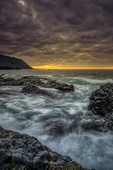El Hierro (2) (Piotr Stachowiak) Tags: 2018 autumn september elhierro island canarias frontera charco azul longexposure wave water waterscape sea seascape seaside ocean atlantic sunset piotrstachowiak nisi nikon d810 smooth moody landscape coast sky cloud evening dusk sun