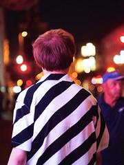 Street Bokeh (awkward_annie) Tags: street streetphotography bohek helios helios44 olympus streetphoto bokehphotography bokehphoto bokehshot streetbokeh stripes stripeshirt stripedshirt