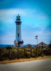 Pigon Piont Light House  Blues (CDay DaytimeStudios w/1,000,000 views) Tags: beach breaker ca californiasateparks clouds coastline highway1 hills landscape lighthouse ocean pacificcoast pacificcoasthighway pch pigeonpointroad pigeonpointca rocks sky water waves