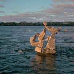 Remic Rapids (Howard Sandler (film photos)) Tags: ottawa rockart ceprano remicrapids river square film portra zeiss superikonta folder german 6x6
