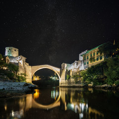 Old Bridge Mostar (1durch0) Tags: mostar bosnien bosnia bosna bridge reflection nature old city stars milkyway